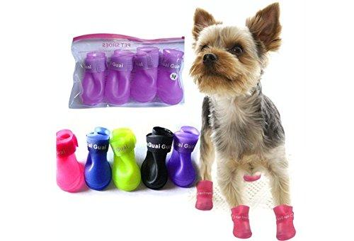 pet-dog-shoes-candy-color-waterproof-booties-rubber-shoes-rain-boots-color-blacksize-m
