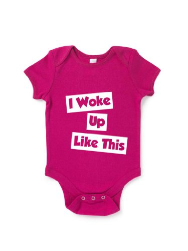 Blue Ivory I Woke Up Like This Baby Grow Funny Music Slogan Humour front-1086332