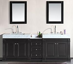 Design Element Odyssey Double Trough Style Sink Vanity Set 90 Inch Bathroom Vanities