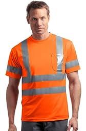 CornerStone Red Kap - Short Sleeve Reflective T-Shirt>L Safety Orange CS408
