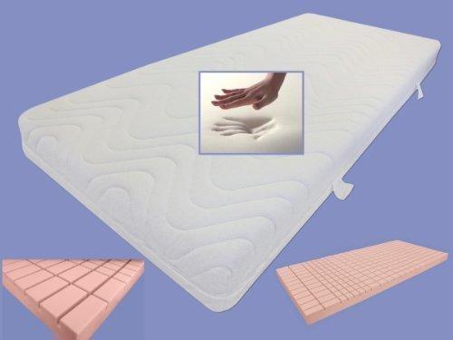 Viskoelastische 7 Zonen MATRATZE 80 / 90 / 100 x 200 x 18 cm Visco / Visko RG 85 + 3D Kaltschaum RG 60 viscoelastischer Memory Schaum soft / weich