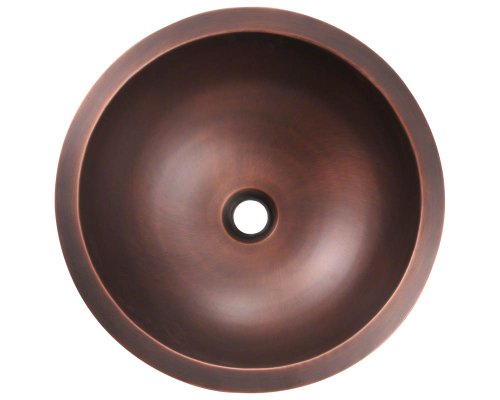 MR Direct 922 Single Bowl Copper Bathroom Sink Hardware Plumbing ...