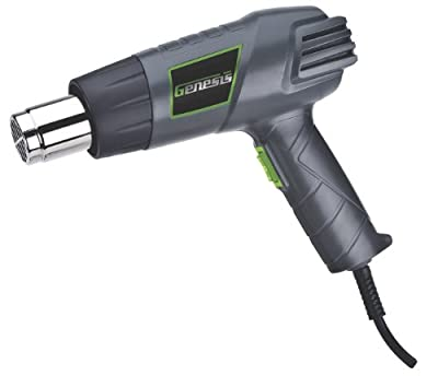 Genesis GHG1500A Dual-Temperature Heat Gun, Grey/Green, 1-Pack