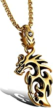 Comprar Ostan - 316L acero inoxidable Dragón collares con colgante de hombres - nueva moda joyería collares y colgantess, oro