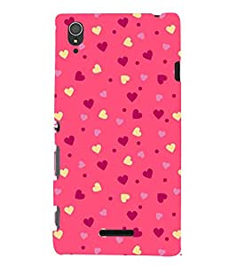 Classic Love Wallpaper 3D Hard Polycarbonate Designer Back Case Cover for Sony Xperia T3