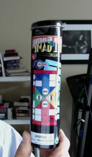 Ludo Game and Mill Game together in one tin tube. Cool!!