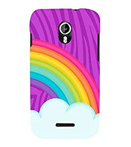 Rainbow Sky Art 3D Hard Polycarbonate Designer Back Case Cover for Micromax Canvas Magnus A117