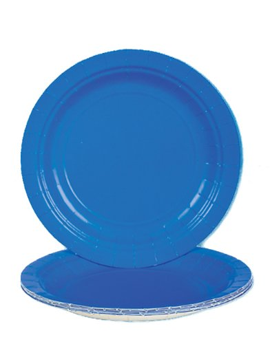 Lot Of 25 Sturdy Blue Paper Party Plates