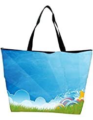 Snoogg Abstract Blue Designer Waterproof Bag Made Of High Strength Nylon