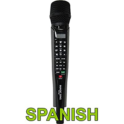 Magic Sing ET12S Spanish/English Karaoke Microphone 1,573 Spanish Songs & 2,064 English Songs