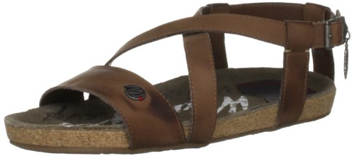 Wrangler Women's Frisco Tan Open Toe Flats WL121731