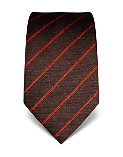 vb-mens-silk-tie-striped-many-colours-availabledarkbrown