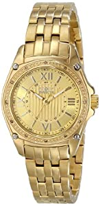 Women's Diamond Angel 18K Gold Plated Steel Gold-Tone Textured Dial