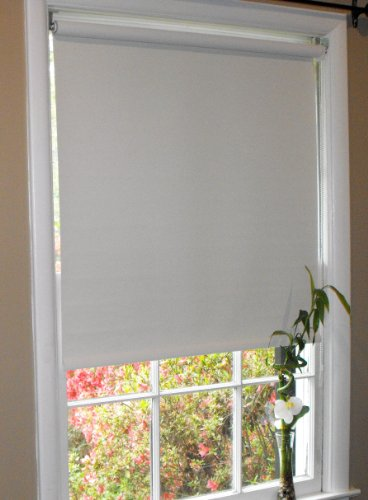 Pure White Blackout Window Roller Shades, 29 x 60, Free Shipping