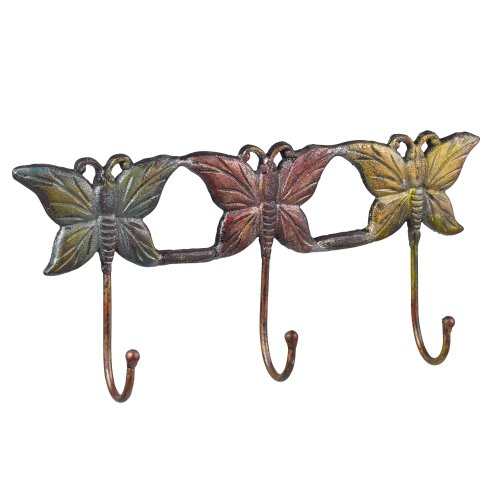 Grasslands Road Butterfly Outdoor Wall Hook Plaque, 14-Inch, 3-Pack