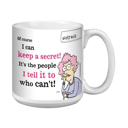 Tree-Free Greetings Xm27897 Aunty Acid Artful Jumbo Mug, 20-Ounce, Secrets