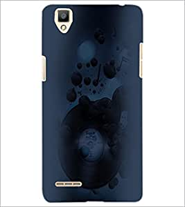 PrintDhaba Abstract Image D-4452 Back Case Cover for OPPO F1 (Multi-Coloured)