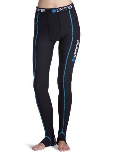 SKINS  T&R Black Long Tights Men's Compression Tights