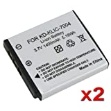 SODIAL(R) Multipack (2 Count): Superior Quality Replacement Battery for Specific Digital Camera and Camcorder Models / Compatible with Kodak KLIC-7004, EasyShare M-Series: M1033, M1093 IS, V-Series: V1073,V1233,V1253,V1273, Pocket Video Cameras Zi-Series