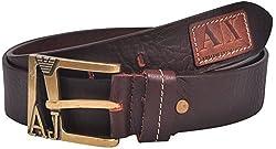 Ox Seven Men's Buckle Belt (AS005, Brown)