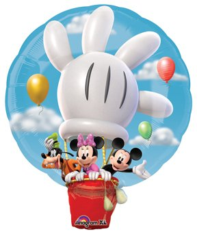 "MICKEY MOUSE Minnie Goofy HOT AIR Balloon ClubHouse 28"" Birthday PARTY Foil - 1"