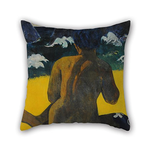 Beautifulseason Oil Painting Gauguin, Paul - Vahine No Te Miti (Femme A La Mer) (Mujer Del Mar). Throw Pillow case/Copricuscini e federe ,best For Sofa,teens Girls,bf,gril Friend,father,husband 20 X 20 Inches / 50 By 50