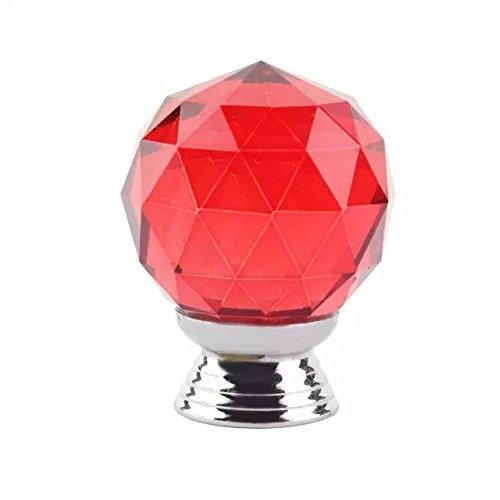DECOOL (TM) 10PCS 40mm Rot Diamant Kristall Moebelknopf Moebelknoepfe Moebelgriffe Moebelknauf Griff Knopf Schrankgriff Türknauf Türknopf Türbeschlag Türgriff günstig bestellen
