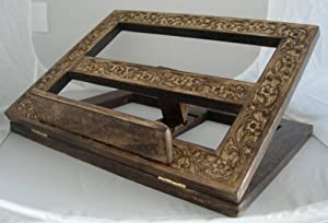 Handcarved Wooden Folding Book/Bible Stand