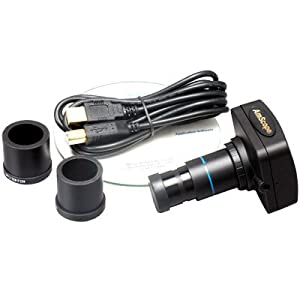 AmScope 3.0 MP USB2.0 Microscope Digital Camera + Software 3.0 MP, Compatible with Windows XP/Vista/7/8 and Mac OS 10.6 & Up