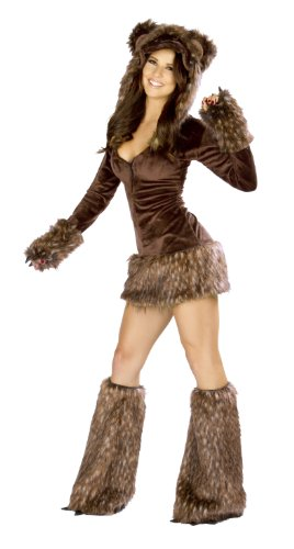 J. Valentine Women's Teddy Bear Costume Zipper-Front with Attached Hood