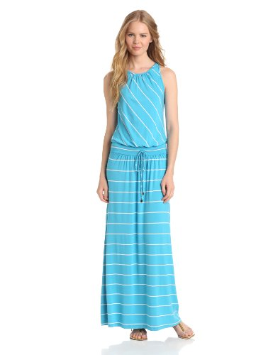 Michael Stars Women's Harlow Island Stripe Maxi Dress, Atlantic, X-Small