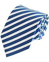 Cravate bleu blanche Fabio Farini