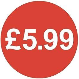 Audioprint Lot Petit 13mm £ 5,99Prix Stickers-500Pack
