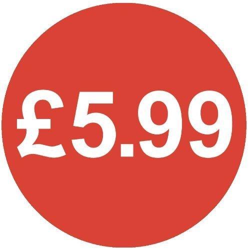 Audioprint Lot Petit 13mm £ 5,99Prix Stickers-10000PACK