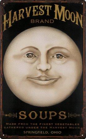 Harvest Moon Tin Sign