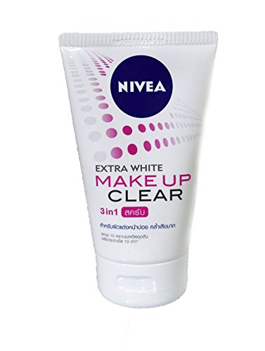 Face Foam Nivea Cleansing Foam Extra White Make Up Clear Scrub Net wt. 3.53 Oz or 100 g. (Nivea Extra White Mud Foam compare prices)