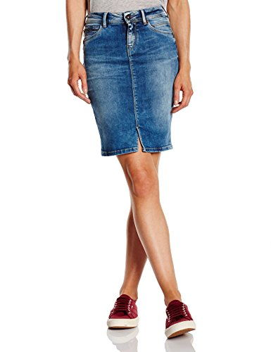 Pepe Jeans Damen Rock, TAYLOR, GR. FR: 42 (Taille fabricant: L), Blau (Denim)