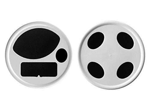 Mason Jar Toothbrush & Toothpaste Holder Lids - (Set of 2) (1 toothbrush & 1 toothpaste lid wide mouth) (Mason Jars With Lids Set Of 2 compare prices)