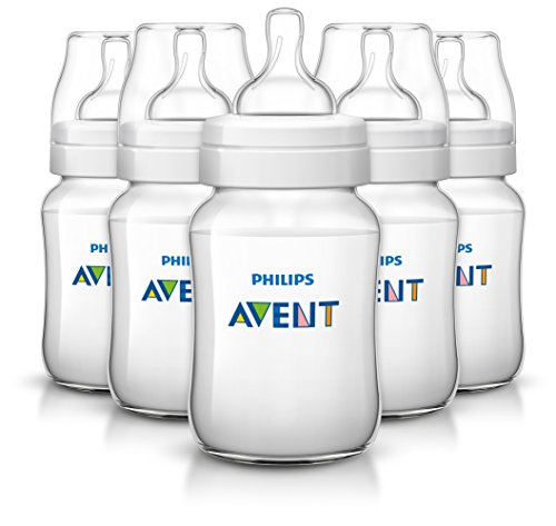 Philips AVENT Anti-Colic BPA Free Bottle, Clear, 9 Ounce,5 Piece (Bpa Baby Bottles compare prices)