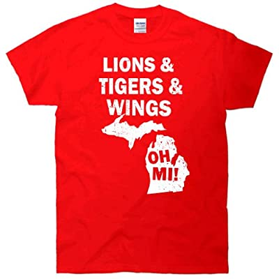 Lions Tiger Wings Oh MI Vintage T-Shirt