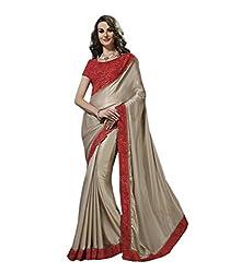 Subhash Sarees Party Wear Silver Color Georgette Saree Sari Sarees