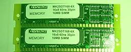 32mb 2X16mb MEMORY UPGRADE for EMU ESi32, Kurzweil K2500 (rev A to rev J Samplers), K2000, K2000VP, and K2vx