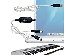 Actpe USB Data To MIDI Keyboard Interface Converter Adapter Cable - Support Windows & Mac OS