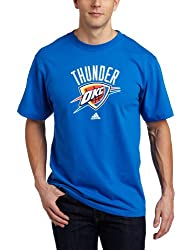 Oklahoma City Thunder Blue adidas Primary Logo T-Shirt