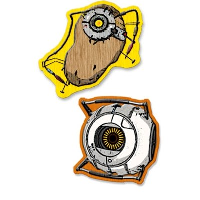 A Crowded Coop - Portal pack 2 patches thermocollants Space Core & POTaDOS