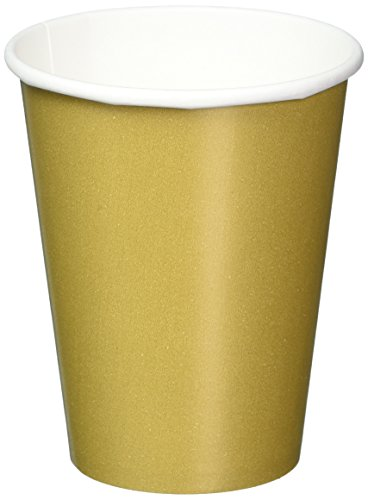 amscan-international-266-ml-paper-cups-gold-pack-of-8