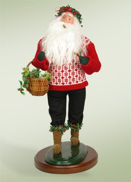 19 Deck the Halls Santa Claus Christmas Figure