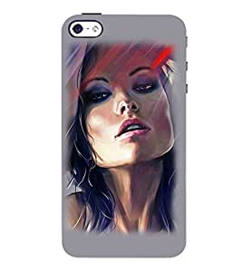 PrintVisa Hot & Sexy Girl Art 3D Hard Polycarbonate Designer Back Case Cover for Apple iPhone 4 :: 4S