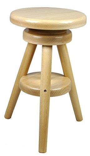 Hocker-Massiv-Schemel-Stuhl-Sitz-Sitzmbel-Buche-Drehhocker-Barhocke-52-70cm-Lackiert-Buche