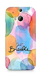 AMEZ just breathe Back Cover For HTC One M8